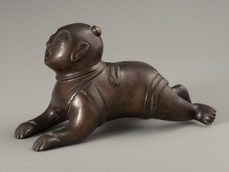 Chinese Ming Dynasty Bronze Baby Water Dropper
