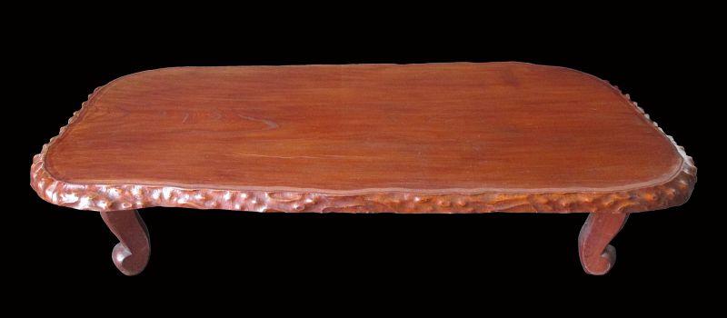 Japanese Antique Low Keyaki Wood Table