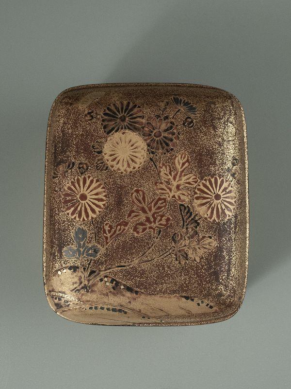Japanese Antique Small Lacquer Tebako (Accessory Box)