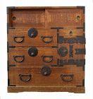 Antique Japanese Ko Tansu (Personal Storage Chest) Kiri Meiji