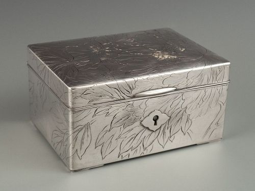 Japanese Silver Box Taisho Period