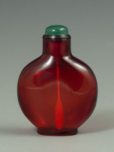 Ruby Red Chinese Antique Snuff Bottle