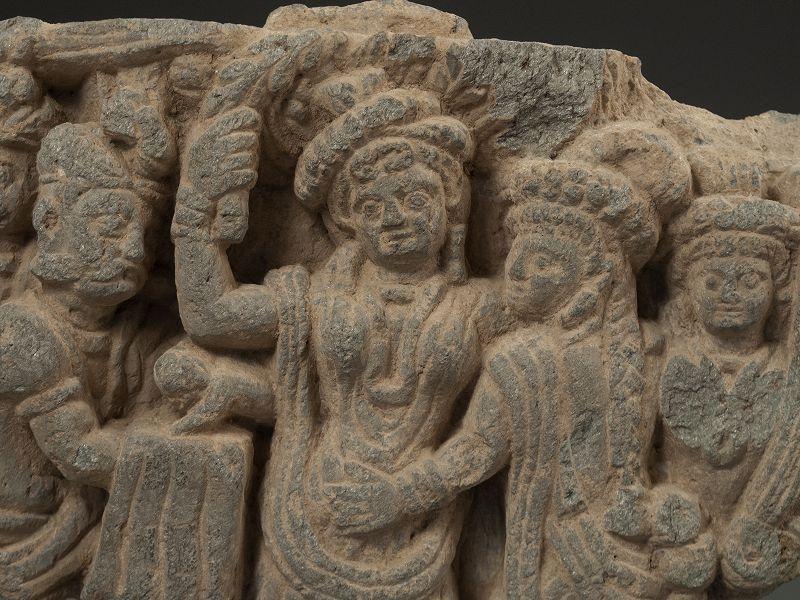 Ghandara Grey Schist Frieze Birth of Buddha