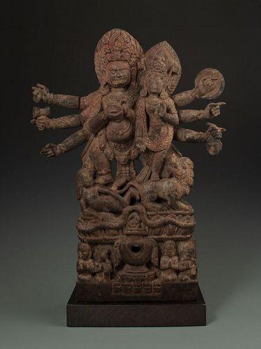 Nepalese Wood Stele of Bharayvasati