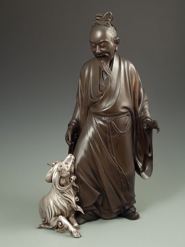 Japanese Bronze of a Sage