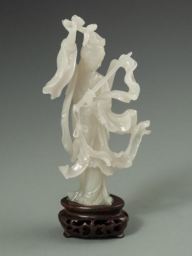 Chinese Jade Carving of a Maiden