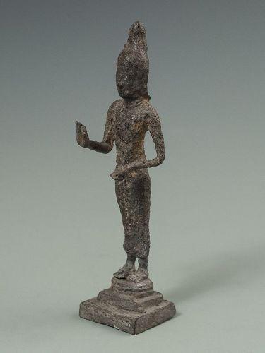 Antique Thai Iron Ayutthaya Buddha