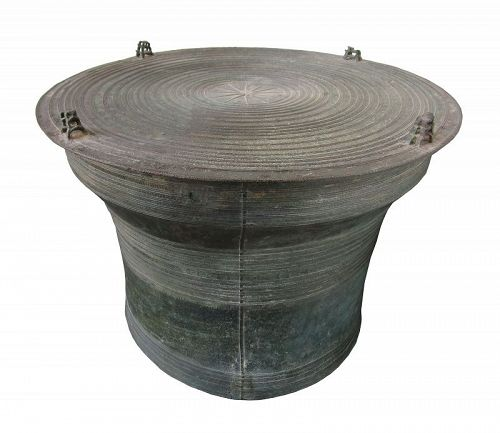Antique Bronze Rain Drum Laos from F Knoll Collection