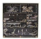 Antique Japanese Ko Tansu (Personal Storage Chest) Raden Meiji Rare