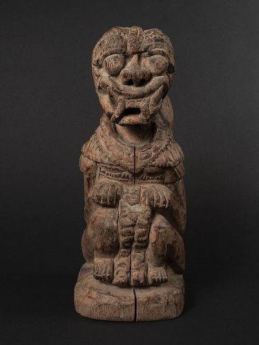 Indonesian Wood Guardian Deity