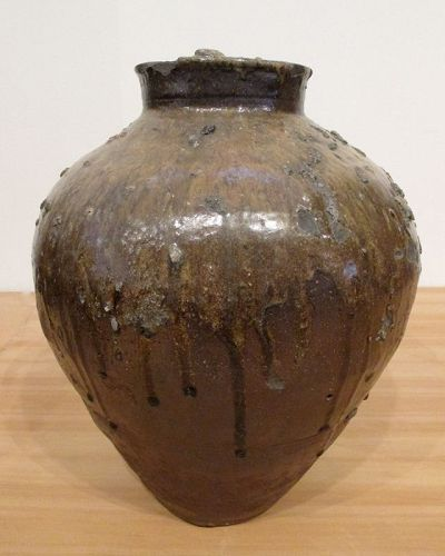 Momoyama Tokoname Ash-glazed Jar