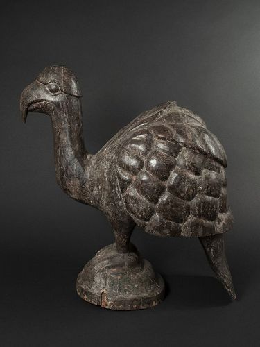Antique India Hardwood Carving of a Mythical Bird