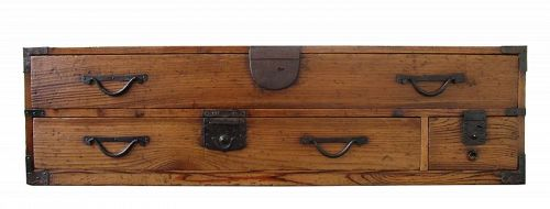 Antique Japanese Katana Tansu (Sword Chest) Suginoki Meiji Period