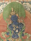 Antique Tibetan Thangka of Blue Tara