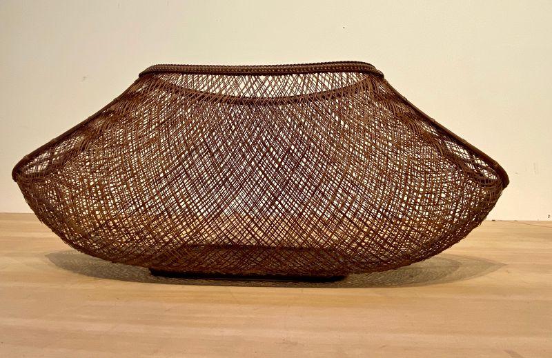 Ikebana Basket Fine Open Weave Delicate Spacial Elegance Artist Signed