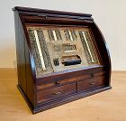 Rare Antique Japanese Optometrist Roll Top Tansu Complete with Lenses