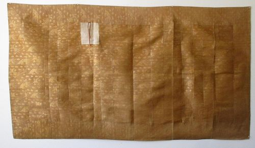 Japanese Antique Gold Asa Kesa Cloth (Buddhist Priest's Vestment)