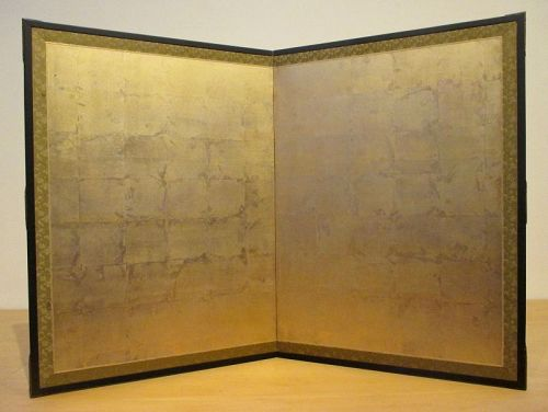 Japanese 2-panel Gold Leaf Screen