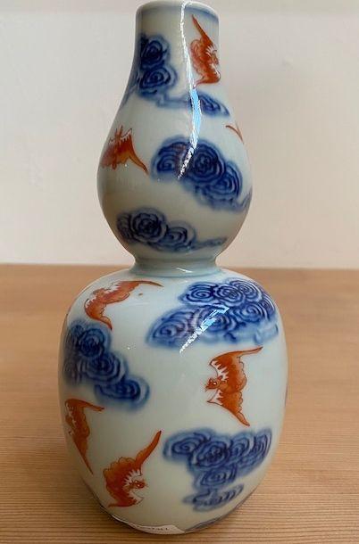 Antique Chinese Porcelain Bat and Cloud Vase