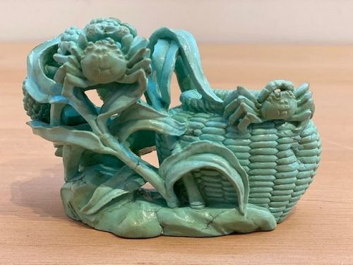 Chinese Turquoise Study with Crabs
