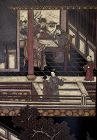 Chinese Antique 8-panel Coromandel Screen with Palace Scene