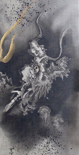 Japanese Pair of Dragon Paintings,  Meiji Period