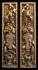 Pair of Antique Chinese Gilt Wood Carved Panels