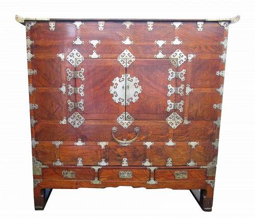 Antique Korean Clothing Chest (Nong) Genko Wood Late 19th Century