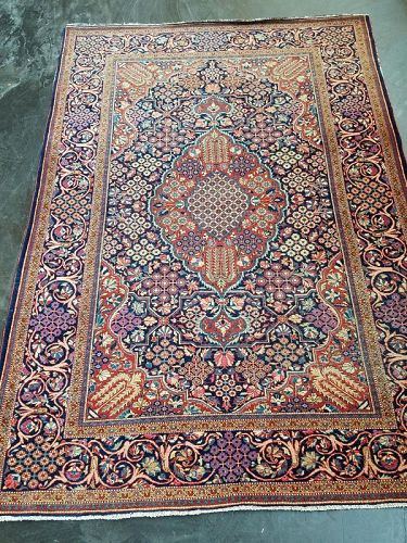 Antique Middle East Handknotted Wool Carpet