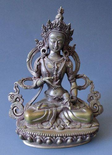Antique Tibetan Bronze Vajrasattva (Dorje Sempa)