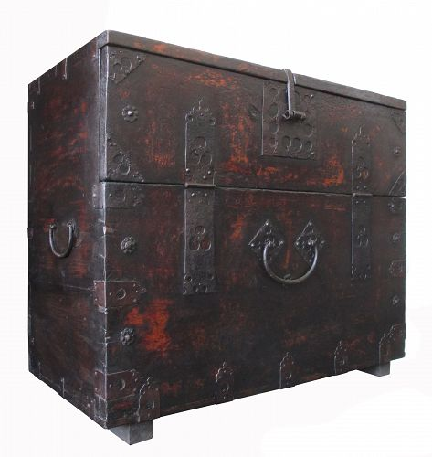 Korean Antique Bandaji,  Blanket Storage Trunk
