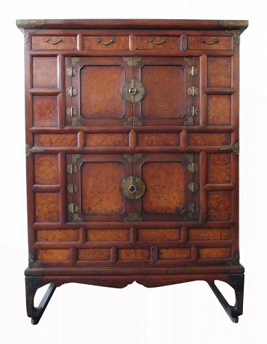 Korean Antique Single Section Nong Cabinet with Round Locks