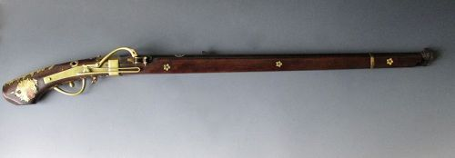 Japanese Antique Matchlock Tanagashima (gun) with Chrysanthemums