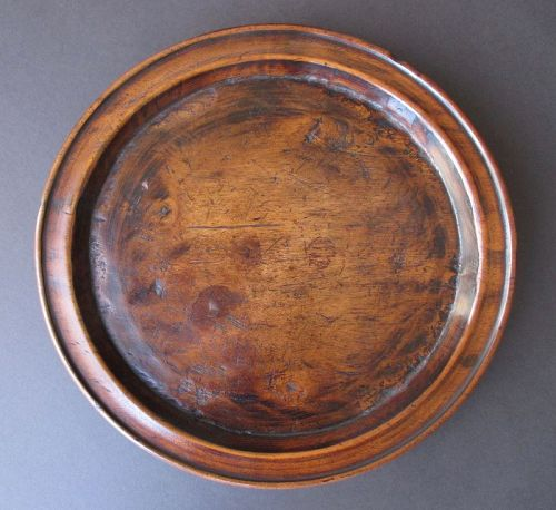 Korean Antique Round Wooden Food Tray,  Joseon Dynasty