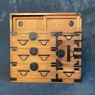 Antique Japanese Ko Tansu (Personal Storage Chest) Kiri Meiji Era