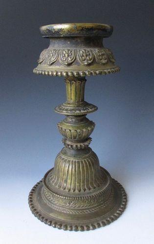Tibetan Antique Bronze Butter Lamp