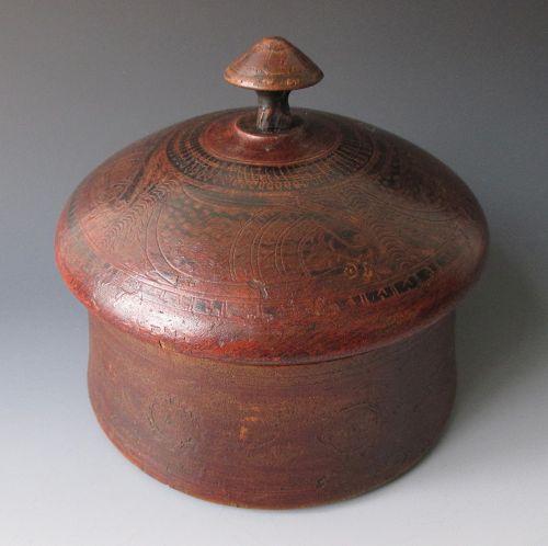 Antique Painted Wooden Box, Punjab Province