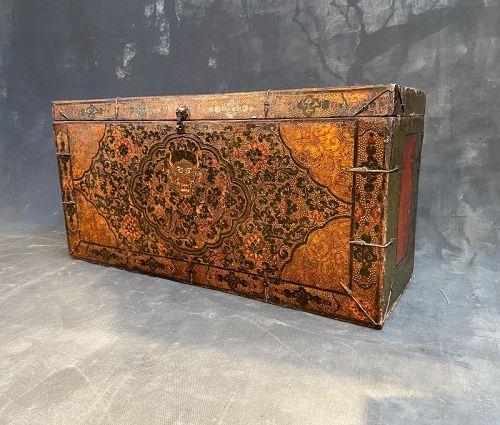 18th C. Dzongkha Dragon Storage Trunk