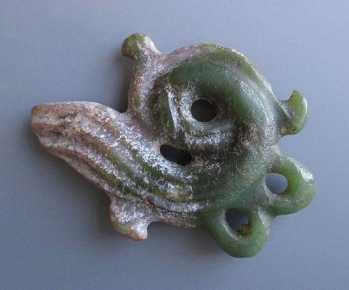Chinese Hongshan Culture Jade Cloud Form Object