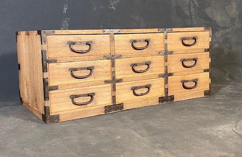 Antique Japanese Kotansu (Organizer Storage Chest) Kiri Meiji Period
