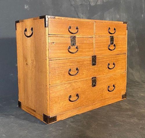Antique Japanese Kotans (Personal Storage Chest) Kirinoki Meiji period