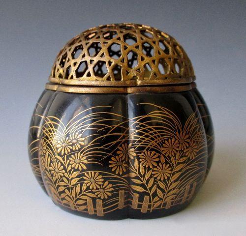 Japanese Antique Small Lacquer Incense Brazier
