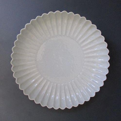 Chinese Antique White Porcelain Chrysanthemum Plate