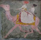 Indian Antique Miniature Painting of Camel Riders