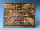 Antique Japanese Yosegi Kobako (Marquetry Drawer Box) Hakone Region