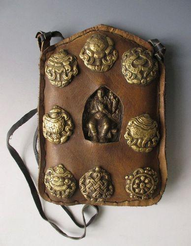 Tibetan Antique Gau Ghao Prayer Pouch