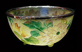 Japanese Plique-a-jour Cloisonne Small Bowl