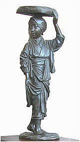 Japanese Bronze Maiden, Meiji Period