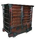 Antique Japanese Rare Karuma Tansu (wheeled chest)