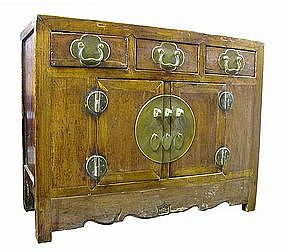 Antique Chinese Low Cabinet with Three Drawers